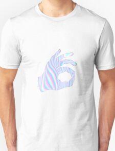 Holographic Ok Emoji Hand Unisex T-Shirt