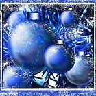 &quot;Cool Blue Snow Ornaments&quot; by Steve Farr