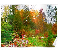 Dotting the landscape with colours Poster