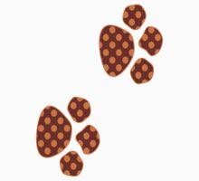 Orange And Rust Polka Dots Kids Tee