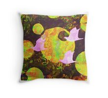 Three Cosmic Birds Digitally Altered Version of Original Work 4 Throw Pillow