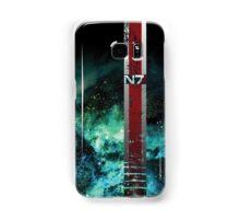 N7 Battle Damaged Galaxy Armor Stripe Samsung Galaxy Case/Skin