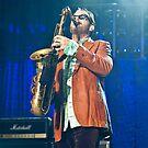 INXS at Brisbane Riverstage - Kirk Pengilly by Mark Greenmantle
