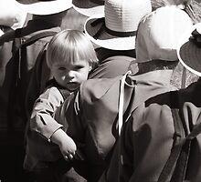 Curious Amish Boy by Michael  Herrfurth