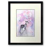 Daydreaming Deer Framed Print