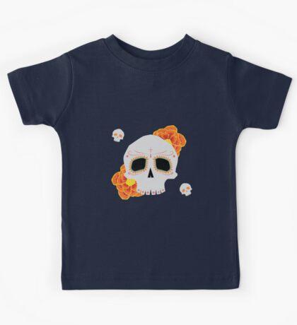 Dia De Los Muertos Skull Kids Tee