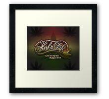 "Herb-n-Life ""Rasta"" Logo Framed Print"