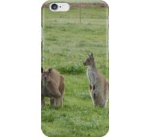 'JOEY PUT YOUR TAIL IN!' Dad & Floe in the Paddock. 'Arilka' iPhone Case/Skin