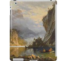 Indians Spear Fishing - Albert Bierstadt iPad Case/Skin