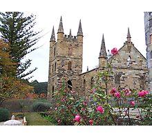 Church and Roses, Tasmaina Photographic Print