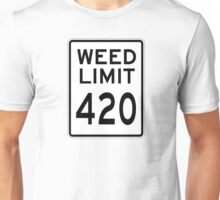 Weed Limit 420 Unisex T-Shirt