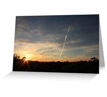 Orange and blue dawn, Lobethal South Australia Greeting Card