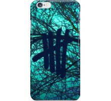 5 Seconds Of Summer 5sos Logo with Tree Background iPhone Case/Skin