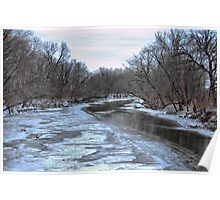 The Skunk River in Winter Poster
