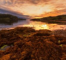 Sunset at Loch Kirkaig by derekbeattie