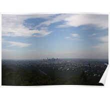 Brisbane City from Mt Coot-tha Poster