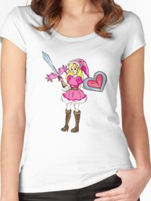 Pink Link Women's Fitted Scoop T-Shirt