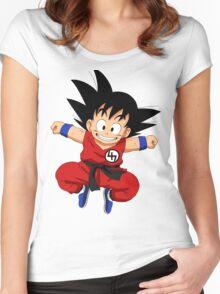 Kid goku 47 Women's Fitted Scoop T-Shirt