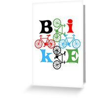 Four Bikes Greeting Card