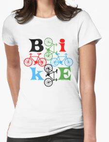 Four Bikes Womens Fitted T-Shirt