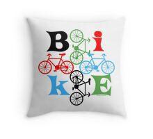 Four Bikes Throw Pillow