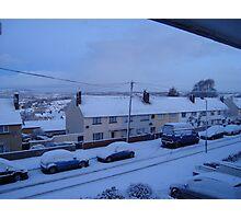 Snow covered Newton Abbot Photographic Print