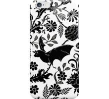 Victorian Bats and Flowers  iPhone Case/Skin