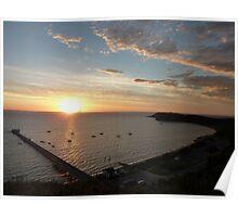 Fishermans Sunrise - Flinders, Victoria. Poster