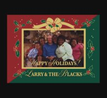 happy holidays larry and the blacks Kids Clothes