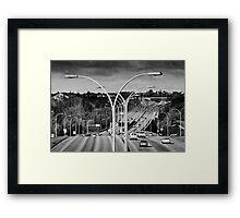 Suburban Landscape Framed Print