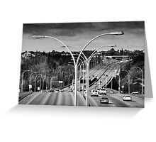 Suburban Landscape Greeting Card
