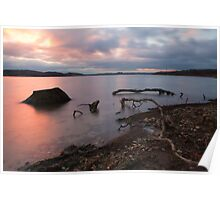 Sunset, Rutland Water. Poster