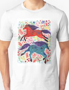 A Horse of Red and Blue Unisex T-Shirt