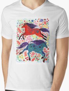 A Horse of Red and Blue T-Shirt