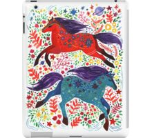 A Horse of Red and Blue iPad Case/Skin
