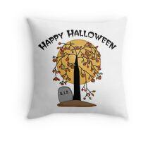 Creepy Halloween Tree Throw Pillow