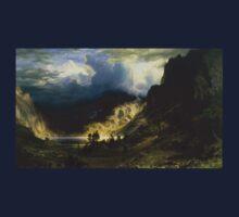 A Storm in the Rocky Mountains - Albert Bierstadt T-Shirt