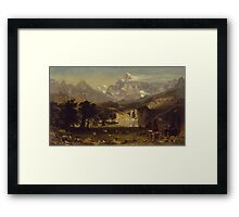 Lander's Peak - Albert Bierstadt Framed Print