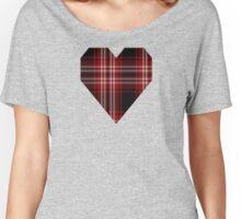 00239 Tweedside Red District Tartan  Women's Relaxed Fit T-Shirt