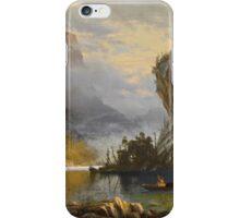 Indians Spear Fishing - Albert Bierstadt iPhone Case/Skin