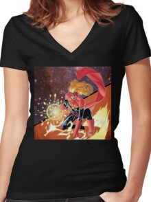 """""""I will make it if I have to crawl"""" Women's Fitted V-Neck T-Shirt"""