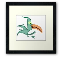 Peabody Pterodactyl Tries To Land Framed Print