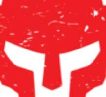 Gladiator - RED Distressed Sticker
