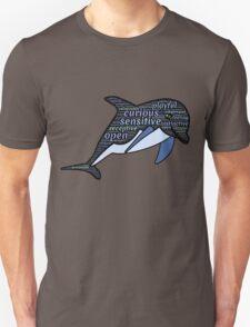Dolphin Typography Playful Curious Sensitive Insti T-Shirt