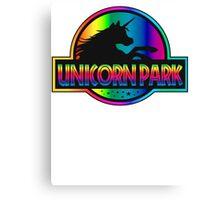 Unicorn Park Jurassic Parody T Shirt Canvas Print