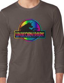 Unicorn Park Jurassic Parody T Shirt Long Sleeve T-Shirt