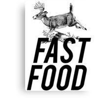 Fast Food Deer Hunter Venison Canvas Print