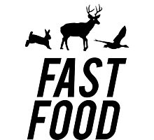 Fast Food Deer Hunter Venison Photographic Print