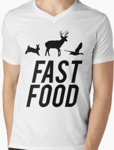 Fast Food Deer Hunter Venison Mens V-Neck T-Shirt