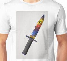 CSGO Bayonet Marble Fade Watercolor Unisex T-Shirt